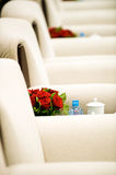 Boardroom with flowers Royalty Free Stock Images