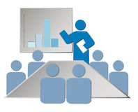 Boardroom Illustration. Illustration of members attending a meeting in a boardroom Royalty Free Stock Photo