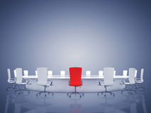 Boardroom interior Stock Photo