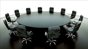 Boardroom, meeting room and conference table and chairs. Business concept. stock video