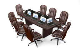 Boardroom Office Conference Table and Chairs Stock Photo