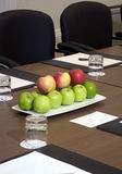 Boardroom place setting Royalty Free Stock Photography