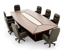 Boardroom table and chair Royalty Free Stock Photo
