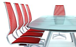 Boardroom with table and chairs Stock Photography