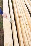 Boards. A new boards is in active preparation for renewal of country-house Royalty Free Stock Photography