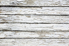 Boards covered with white cracked paint Royalty Free Stock Images