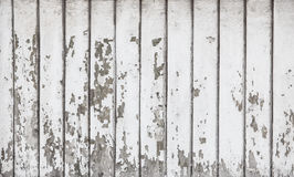 Boards covered with white cracked paint Stock Photo