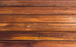 Boards nutty tone brown natural background, texture wooden horizontal lines pattern. Pier tree royalty free stock photography