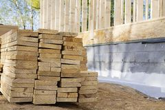 Boards On Construction Site Royalty Free Stock Photo
