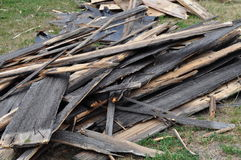 Boards. The boards piled on the ground lie on the ground Royalty Free Stock Image