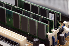 Boards of RAM memory Royalty Free Stock Images