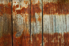 Boards with rust from the barrel background Royalty Free Stock Images