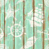 Boards of ship deck seamless pattern Stock Photos