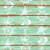 Boards of ship deck seamless pattern Royalty Free Illustration
