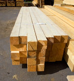 Boards in stock. Boards are stacked on the street Royalty Free Stock Photo