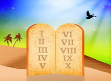 Boards of ten Commandments Royalty Free Stock Photo