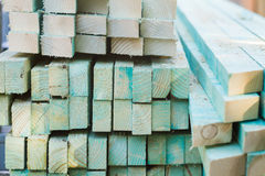 boards and timber lie in a pile Royalty Free Stock Photos