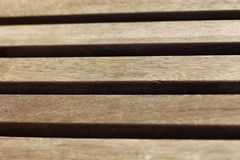 Boards in wooden bench Royalty Free Stock Photos