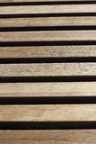 Boards in wooden bench Royalty Free Stock Image