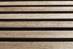 Boards in wooden bench Royalty Free Stock Photography
