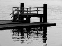 Boardwalk. And jetty with pontoons royalty free stock image
