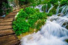 Boardwalk. In Plitvice Lakes National Park Royalty Free Stock Photo