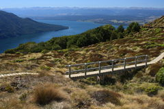 Boardwalk above lake Te Anau Stock Photo