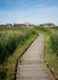 Boardwalk Across Nature Reserve Stock Photo
