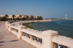 Boardwalk in Al Khobar, Saudi Arabia Royalty Free Stock Images