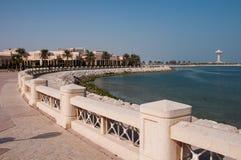 Boardwalk in Al Khobar, Saudi Arabia.  royalty free stock images