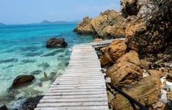 Boardwalk along the beach Royalty Free Stock Photo