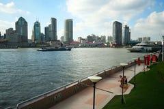 A Boardwalk Along the Huangpu Royalty Free Stock Photo