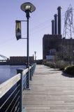 Boardwalk along Providence waterfront Stock Photos