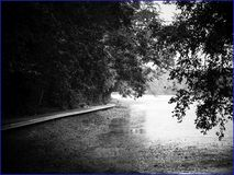 boardwalk around the perimeter of the reservoir royalty free stock photography