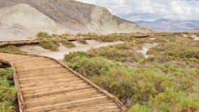 Boardwalk At Salt Creek In Death Valley National Park Stock Photo