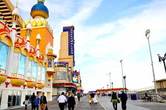 Boardwalk in Atlantic City, New Jersey Stock Photography