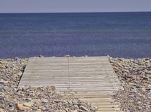 Boardwalk błękitny morze 3574 obraz royalty free