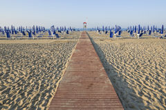 Boardwalk on the beach Royalty Free Stock Image