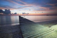 Boardwalk on beach Stock Photo