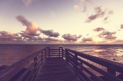 Boardwalk on beach Royalty Free Stock Image