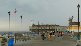 Boardwalk at the beach at Asbury Park in New Jersey. It has been ranked as one of the best beaches in New Jersey Stock Image