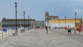 Boardwalk at the beach at Asbury Park in New Jersey Stock Images