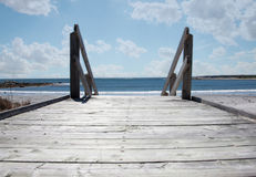 Boardwalk on beach Royalty Free Stock Photo