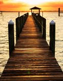 Boardwalk on beach Stock Photo