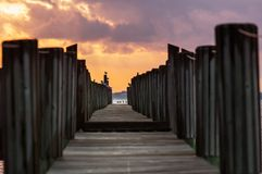 Boardwalk on beach Royalty Free Stock Photo