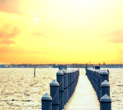 Boardwalk on beach royalty free stock images