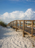 Boardwalk in the Beach Sand Dunes Stock Images