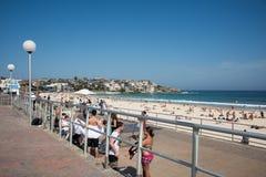 Boardwalk and Bondi Beach Stock Photos
