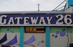 Boardwalk business. Gateway 26 a popular arcade on the Wildwood new jersey boardwalk Royalty Free Stock Images