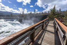 Boardwalk By The Dam. Royalty Free Stock Image